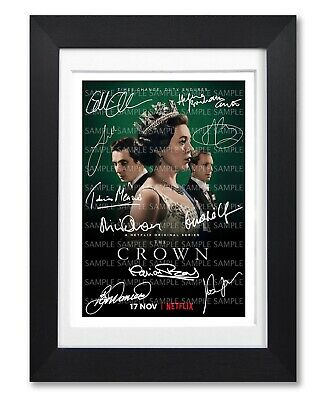 The Crown Season 3 Cast Signed Tv Show Series Poster Photo Autograph Framed Gift