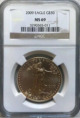 1oz Gold Coin $50 Usa 1oz Coin NGC Rated MS 69 In Hard Case