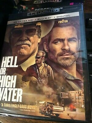 Hell or High Water 4k HD + Blu-Ray + Digital  Brand New / Sealed (no slip cover)