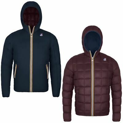K-Way Uomo Jacques Thermo Plus Double In Piuma D'oca Blu/Bordo' Promo