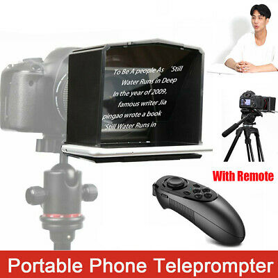 Interview Phone Use Portable Teleprompter Set With Adapter Ring DSLR Camera