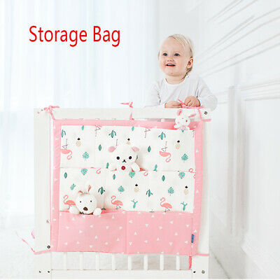 Cute Pattern Soft Baby Storage Bed Hanging Bags Bedding Bumpers Crib Stuff