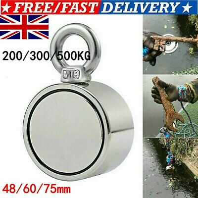 200/300/500KG Double Side Magnet Detector Neodymium Metal Sea Fishing  NEW $$