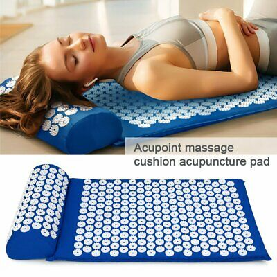Massage Acupressure Mat +Pillow Back Muscle Relaxation Yoga Shakti Sit Lying Mat