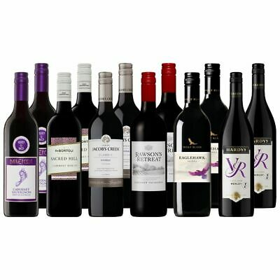 Weekend Mix Regional Red Wine Entertainers Case Dozen 12x750ml Free Delivery