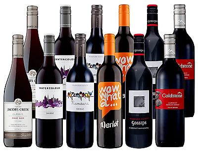 The Spring Cellar Mixed Red Wine Case Collection Dozen 12x750ml Free Delivery