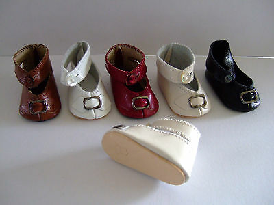for old or modern doll Doll shoes 6 cm Leather shoes Size 7 G.BRAVOT