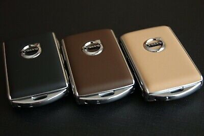 Volvo Leather Key Cover Shell case (3 Colors available: Black,amber,marron )