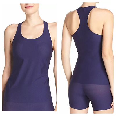 SPANX Womens Light Control Perforated Racer Tank Top Shaper Blue Size S NEW $45