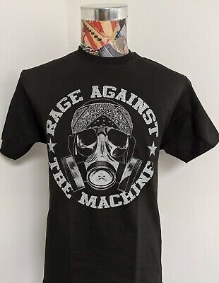 New Rage Against The Machine Ratm Bandana Gas Mask Rap Funk Metal Black T Shirt