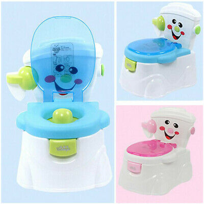 2in1 Toddler Potty Toilet Training Seat Safety Baby Kid Fun Trainer Chair Urinal