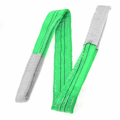 Green Eye to Eye Webbing Lifting Tow Strap 1M Length