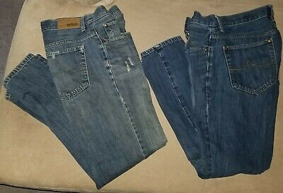 2 Pair Mens Boys Urban Pipeline Slim Straight Leg Boot Cut Jeans Size 29/30 EUC