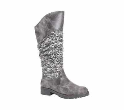 Women's MUK LUKS Kailee Tall Slouch Boot Grey