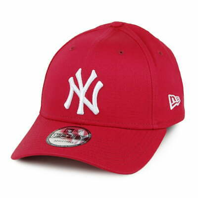 New Era 9FORTY New York Yankees Baseball Cap - MLB League Essential - Cardinal
