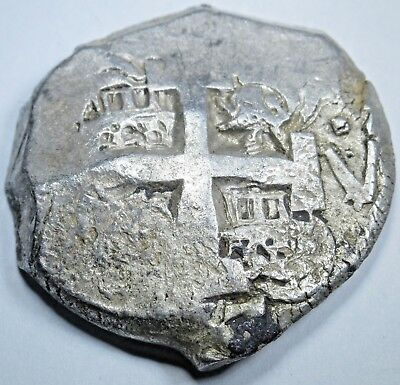 1767 Spanish Potosi Silver 8 Reales Eight Real Colonial Pirate Treasure Cob Coin