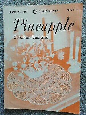 VINTAGE PINEAPPLE CROCHET PATTERN BOOKLET Coats No 659