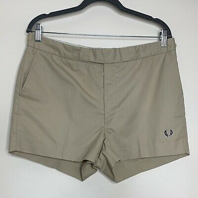 Vtg Fred Perry Tennis Shorts W36 Beige 80s