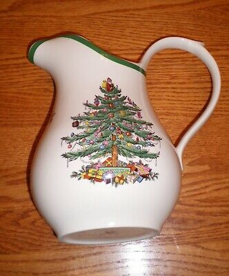 Spode Christmas Tree Pattern 48 Oz. Water Pitcher. S3324 L. Made In England