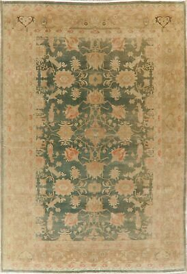 GREEN Vegetable Dye Oushak Egyptian Area Rug Antique Look Hand-Knotted Wool 9x12