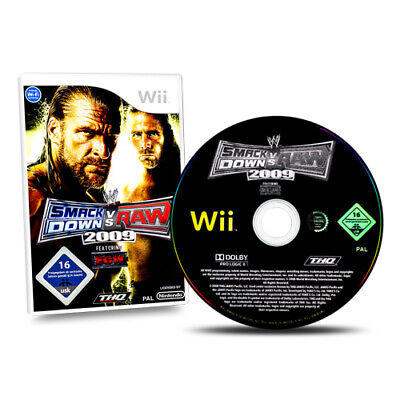 Nintendo Wii Spiel WWE Smackdown Vs Raw 2009 mit OVP ohne Anleitung AA