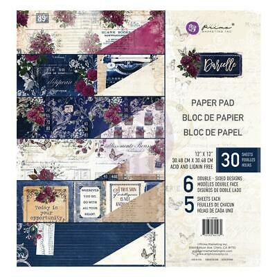 "Prima Darcelle 12"" Paper Pad  12""x12"", 30pg Double Sided"