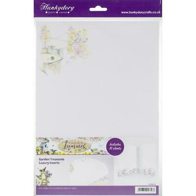 Hunkydory Garden Treasures Luxury Card Inserts  A4, 16pk