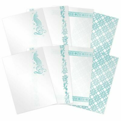 Hunkydory Teal Treasures Luxury Foiled Acetate  A4, 8pk