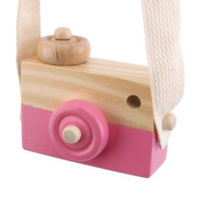 Kids Cute Wood Camera Toy Xmas Children Room Decor Natural Safe Wooden LS3