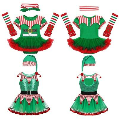 Newborn Baby Girls Christmas Costume Clown Romper Fancy Dress Outfit Jumpsuit