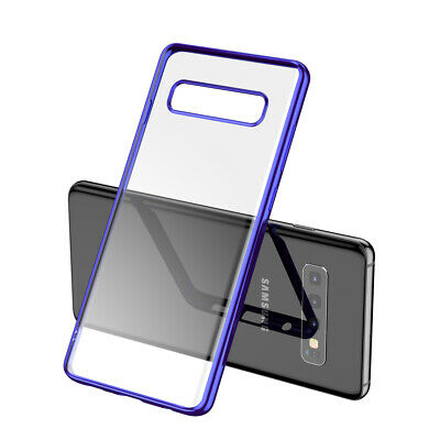 Plating Soft TPU Case For Samsung Galaxy S8 S9 S10 Note 8 9 10 Ultra Thin Cover