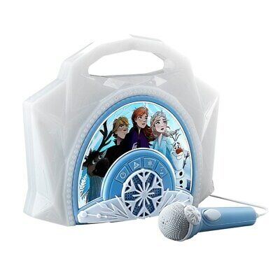 Frozen 2 Sing Along Boombox Music Box Light Up Sound Effects With Mic Kids Toy