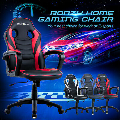 Racing Gaming Chair Ergonomic Design Leather Swivel Office Computer Desk Chair