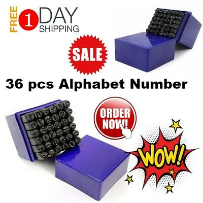 Alphabet Punch Stamps Letter Number Stamp Set Steel Metal Leather Jewelry Wood
