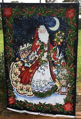 """QUILTING  FABRIC   BLOCK PANEL """" TWELVE DAYS OF XMAS """" by Shelley Rasche"""