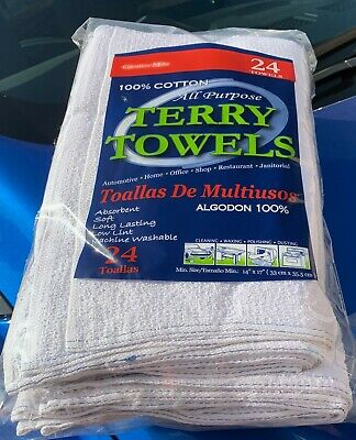 48 Cotton Barmop / Terry Towels 15x19 -- FREE SHIPPING