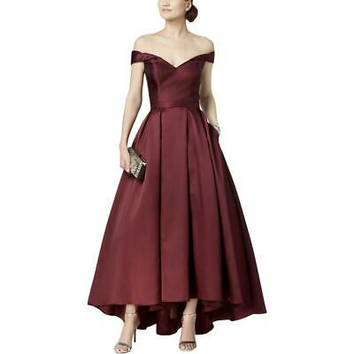 Xscape Womens Off-The-Shoulder Evening A-Line Formal Dress Gown BHFO 8299