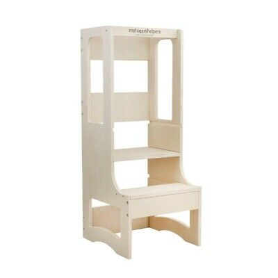Adjustable Height Learning Tower® RAW Birch . Kitchen Helper, Toddler Tower.