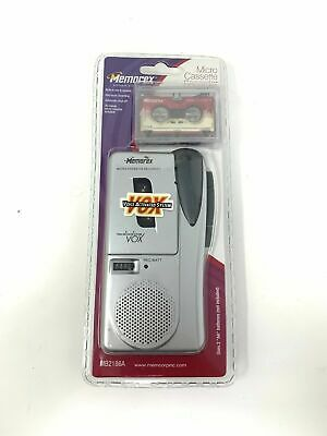 Memorex MB2186A Handheld Micro Cassette Tape Voice Recorder Rare Style + Tapes