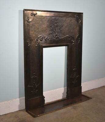 *Antique French Bronze Fireplace Surround/Insert Louis XIV Salvage