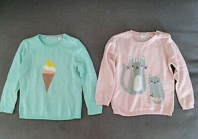 2 x COUNTRY ROAD GIRLS KNIT JUMPERS SZ 18-24 MTHS Value $99.90