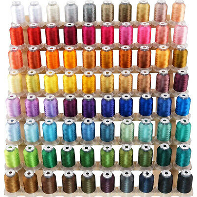 New brothread Janome Colours 80 Spools Polyester Embroidery Machine Thread Kit
