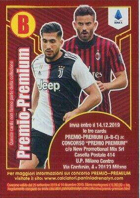 Calciatori Panini Adrenalyn Xl 2019-20 Premio-Premium Card B