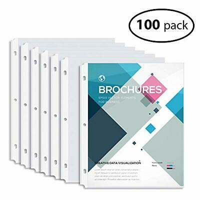 Page Protectors 8.5 x 11, Clear Sheet Protectors for 3 Ring Binder, Top Loading,