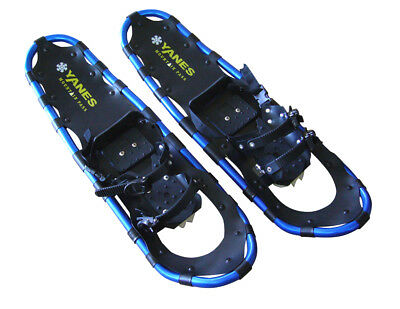 """Yanes Aluminum Snowshoe Kit With Trekking Poles & Carry Bag - 36"""" To 300 Lbs"""