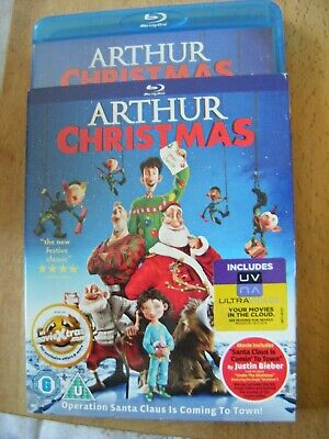 Arthur Christmas (Blu-ray, 2012) with Slip Case - VG
