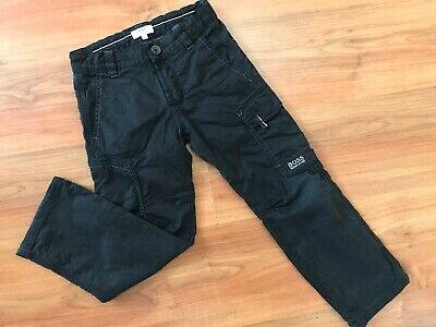 Boys AUTHENTIC Black HUGO BOSS Cargo Trousers (age6) *L@@K*