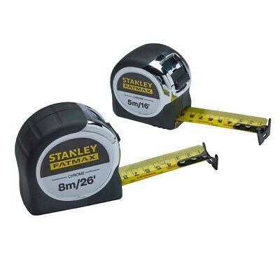 Stanley Fatmax Chrome Tape Measure Twin Pack