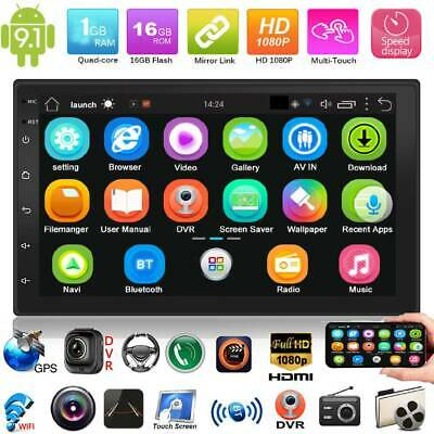 2Din 7'' Android 9.1 GPS Navi WiFi Quad Core Car Stereo MP5 Player FM BT Radio