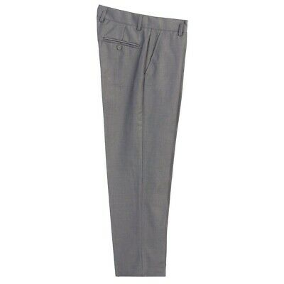 Big Boys Gray Flat Front Formal Special Occasion Dress Pants 12 FINAL SALE